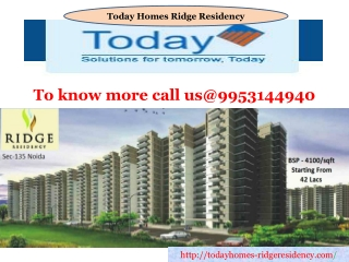 Today homes Residency Noida