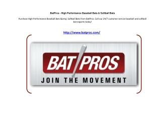 BatPros - High Performance Baseball Bats