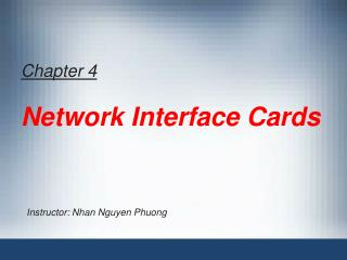 Chapter 4 Network Interface Cards