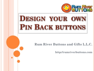 Design your own pin back buttons