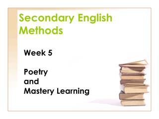 Secondary English Methods