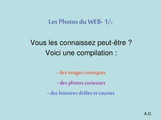 Les Photos du WEB- 1/ 3