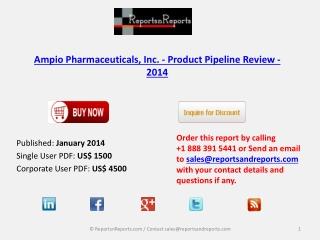 Ampio Pharmaceuticals, Inc. - Market Overview 2014