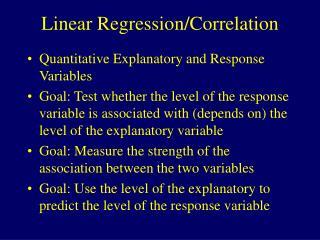 Linear Regression/Correlation