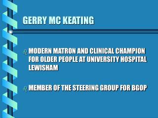 GERRY MC KEATING