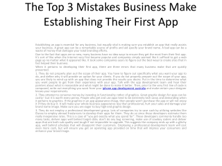 An Unavoidable 4 Mistakes That New App Creators Will Mak1.pd