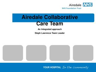Airedale Collaborative Care Team An Integrated approach Steph Lawrence Team Leader
