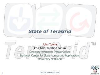 State of TeraGrid