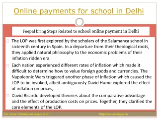 We give full support to you to Online payment for school in