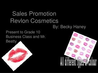 Sales Promotion Revlon Cosmetics