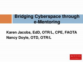 Bridging Cyberspace through  e-Mentoring
