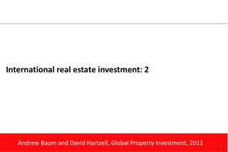 International real estate  investment: 2