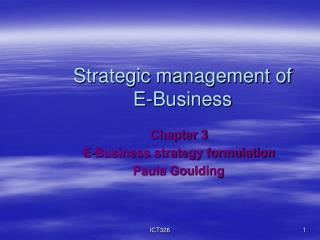 Strategic management of  E-Business