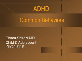 ADHD Common Behaviors