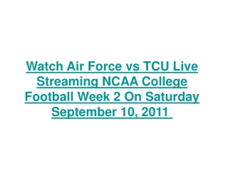 watch air force vs tcu live streaming ncaa college football