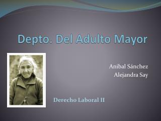 Depto. Del Adulto Mayor