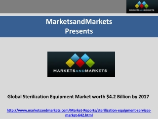Global Sterilization Equipment Market worth $4.2 Billion by