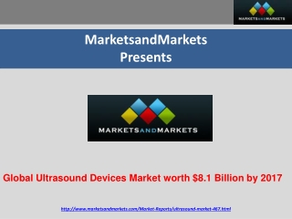 Global Ultrasound Devices Market worth $8.1 Billion by 2017