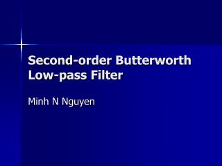 Second-order Butterworth Low-pass Filter