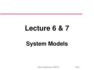 Lecture 6 & 7