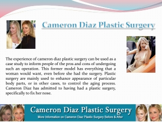 Cameron Diaz Plastic Surgery Before And After
