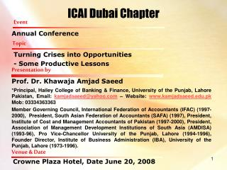 ICAI Dubai Chapter