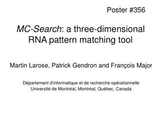MC-Search: a three-dimensional RNA pattern matching tool