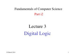 Fundamentals of Computer Science Part i2