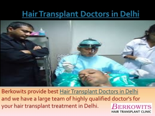 Hair Transplant Doctors in Delhi
