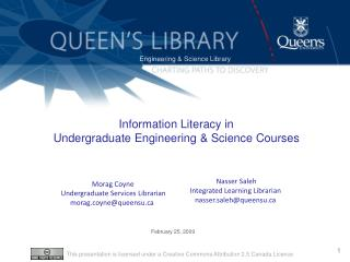 Information Literacy in  Undergraduate Engineering & Science  Courses