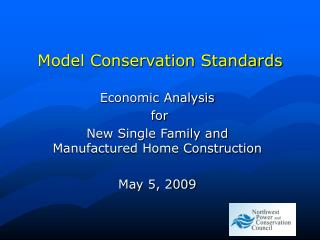 Model Conservation Standards