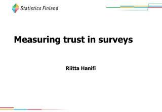 Measuring trust in surveys