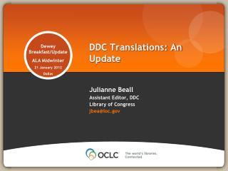 DDC Translations: An Update