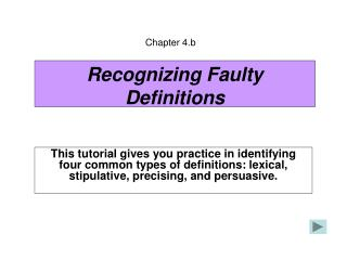 Recognizing Faulty Definitions