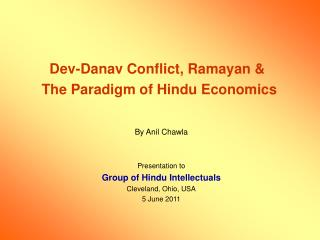Dev-Danav Conflict, Ramayan &  The Paradigm of Hindu Economics