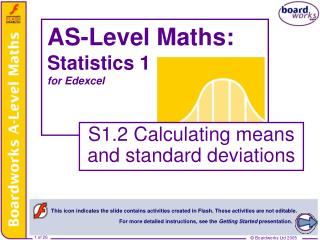 AS-Level Maths:  Statistics 1 for Edexcel