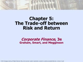 Chapter 5: The Trade-off between  Risk and Return