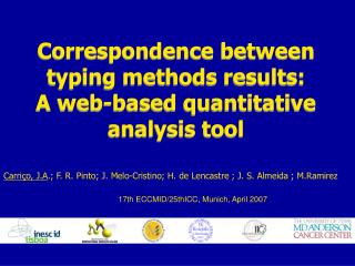 Correspondence between typing methods results:  A web-based quantitative analysis tool