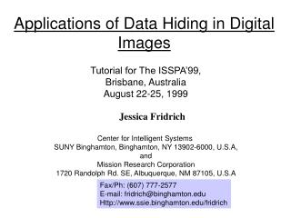 Applications of Data Hiding in Digital Images