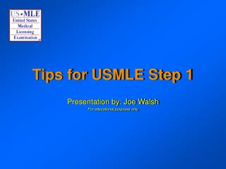 Tips for USMLE Step 1