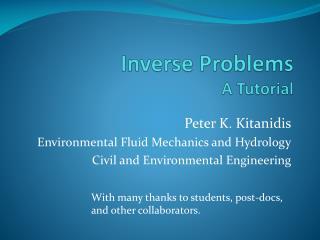 Inverse Problems A Tutorial