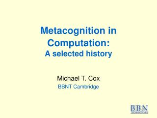 Metacognition in Computation: A selected history