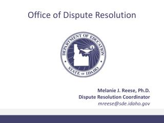 Office of Dispute Resolution