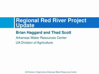 Regional Red River Project Update