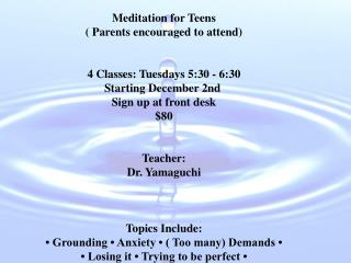 Meditation for Teens