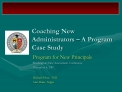 coaching new administrators   a program case study