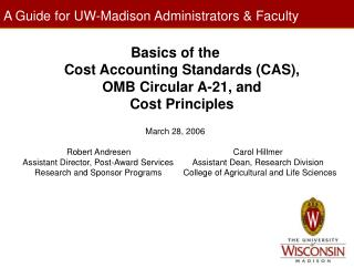 A Guide for UW-Madison Administrators & Faculty