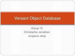 Versant Object Database