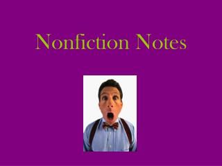Nonfiction Notes
