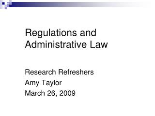 regulations and administrative law